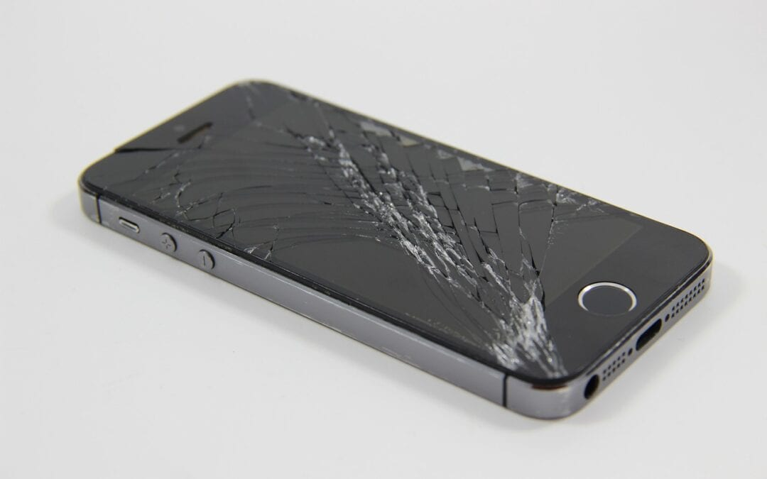 iphone with broken display