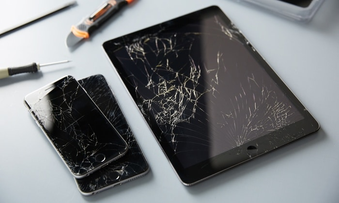 broken iphone and ipad