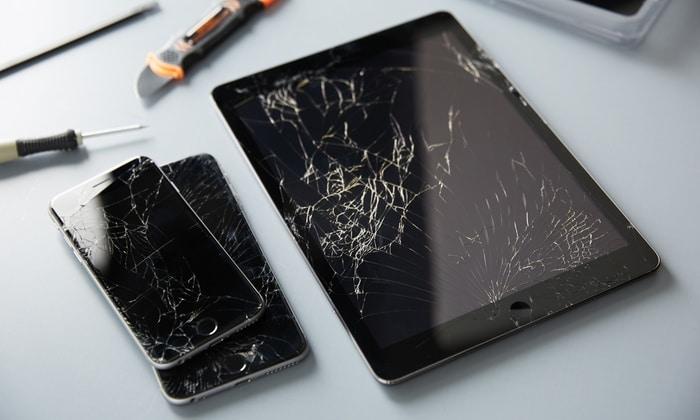 broken iphone and ipad
